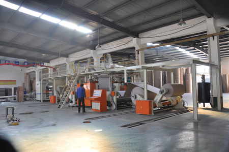 QHCL-120-2 Corrugated cardboard production line